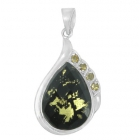 Gold Flake Pendant Np8748-GL-R